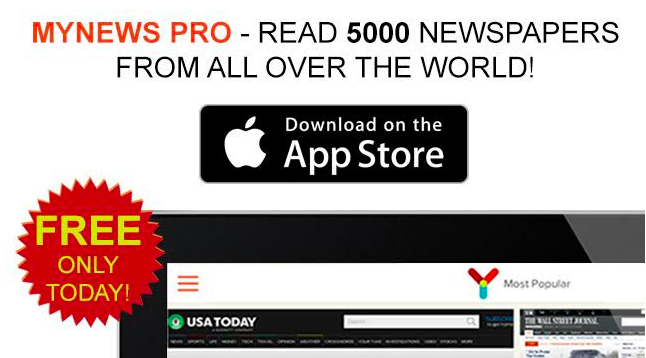 Special Offer: myNews Pro Free Only Today