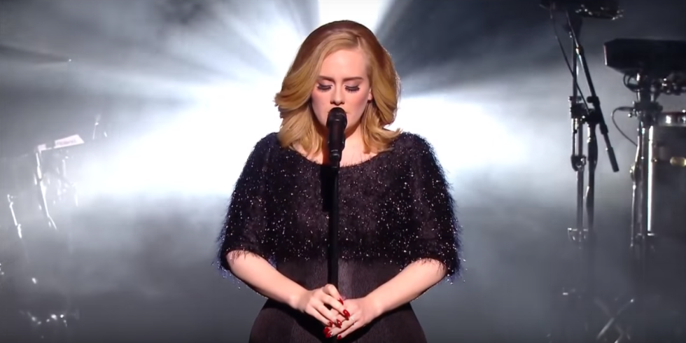"Watch Adele's First ""Hello"" TV Live Performance"