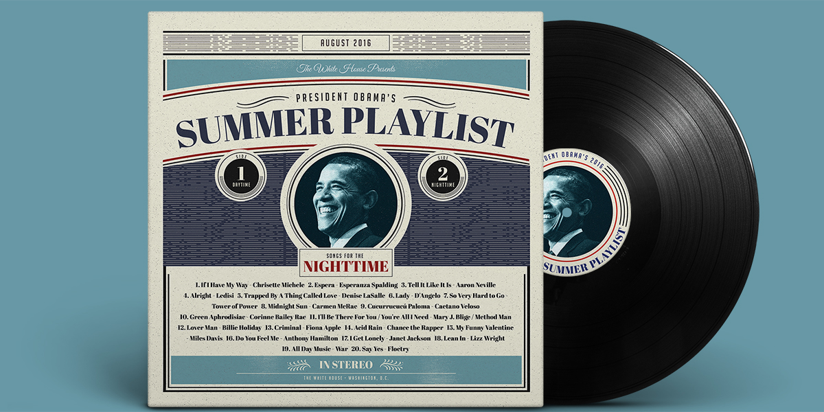 Barack Obama 2016 Summer Playlist
