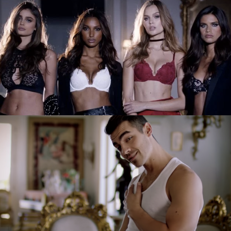 Joe Jonas & Victoria's Secret Models Together In The Same Video