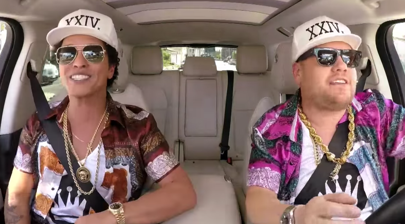 Watch Bruno Mars Singing Elvis on Carpool Karaoke